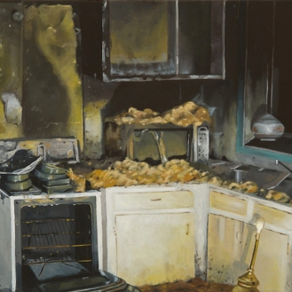 "Kitchen | Oil on Canvas | 8"" x 10"""