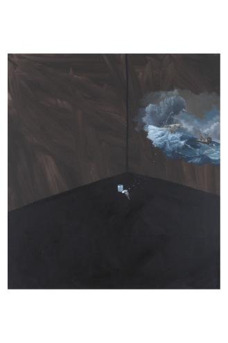"Fleet in Distress   Oil on Canvas   17"" x 14"""