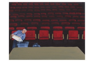 "Nobody in the Audience of the Dramatic Reading of the Autobiography of X | Oil on Canvas | 8"" x 10"""