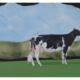 "Pictorial Birthday Wish List Item 2-Cow | Oil on Canvas | 8"" x 10"""