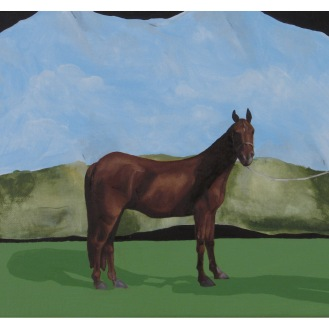 "Pictorial Birthday Wish List Item 3-Horse | Oil on Canvas | 8"" x 10"""