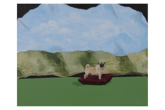 "Pictorial Birthday Wish List Item 5-Pug | Oil on Canvas | 8"" x 10"""