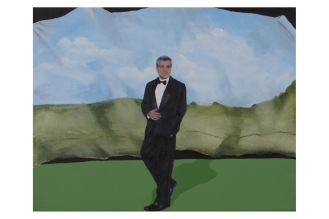 "Pictorial Birthday Wish List Item 6-Clooney | Oil on Canvas | 8"" x 10"""