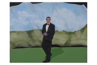 "Pictorial Birthday Wish List Item 6-Clooney | Oil on Canvas | 8"" x 10"""