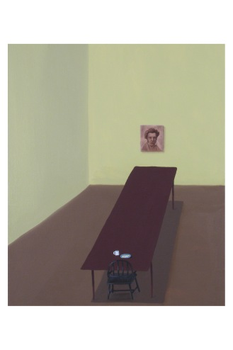 "The Companion Series: Wednesday with Kierkegaard | Oil on Canvas | 17"" x 14"""